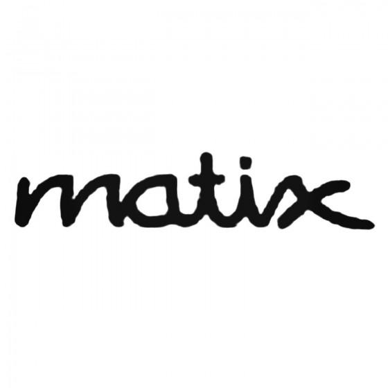 Matix Text Decal Sticker