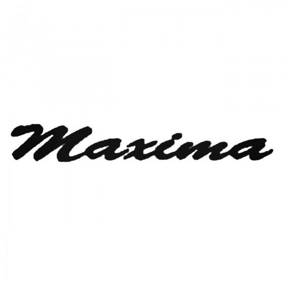 Maxima Decal Sticker