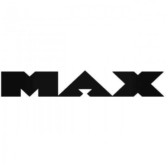 Max Vinyl Decal Sticker