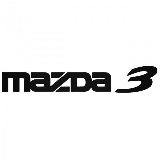 Mazda 3 Decal Sticker