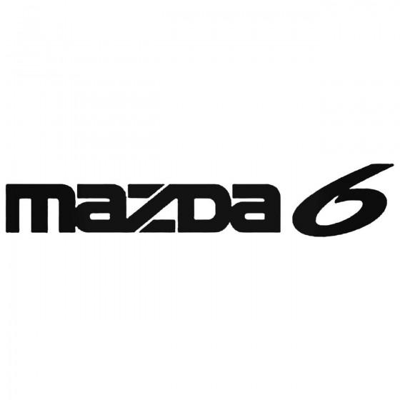 Mazda 6 Decal Sticker