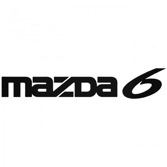 Mazda 6 Graphic Decal Sticker