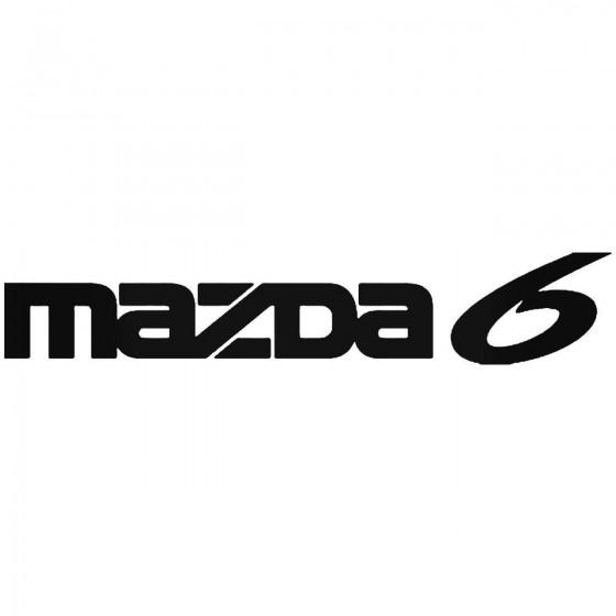 Mazda 6 Vinyl Decal Sticker
