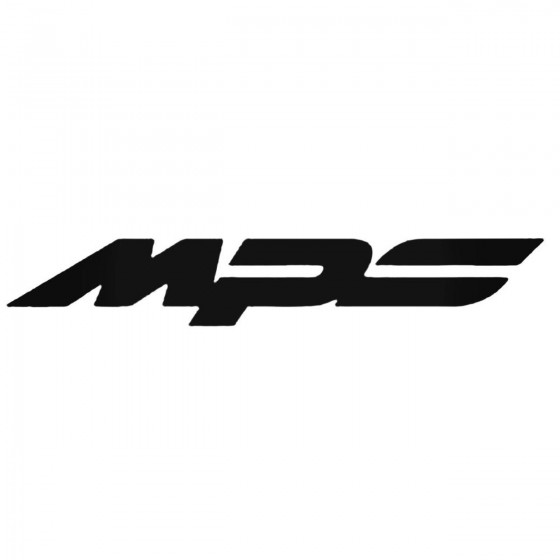 Mazda Mps Decal Sticker