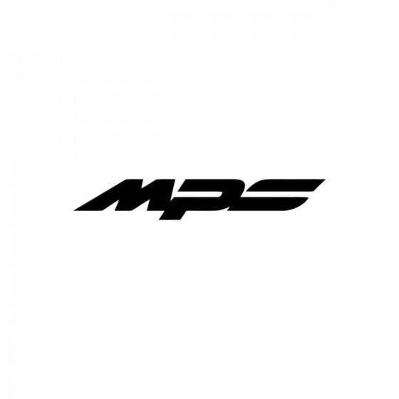 Mazda Mps Vinyl Decal Sticker
