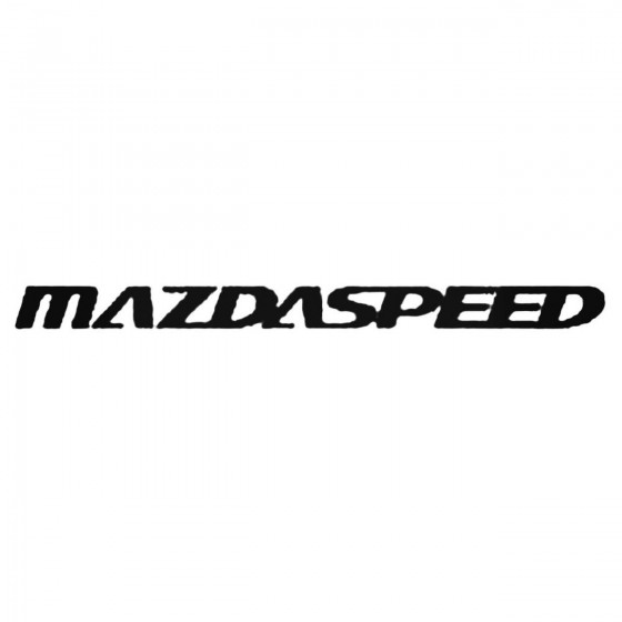 Mazdaspeed Decal Sticker