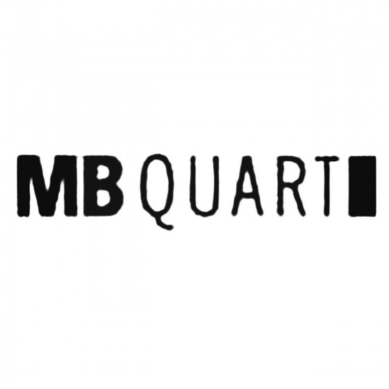 Mb Quart Decal Sticker