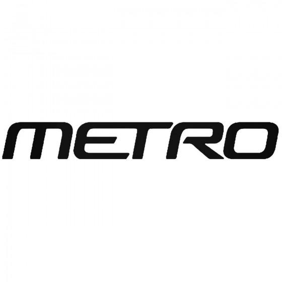Metro Vinyl Decal Sticker