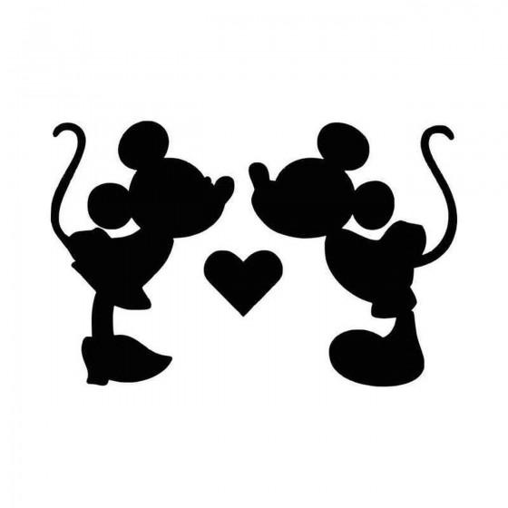 Mickey Minnie Mouse Kiss...