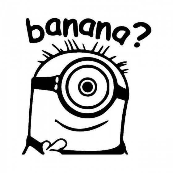 Minion Banana Vinyl Decal...
