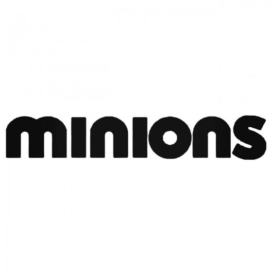 Minions Movie Text Decal...