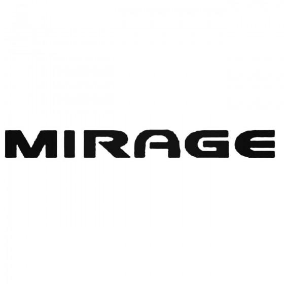 Mirage Decal Sticker