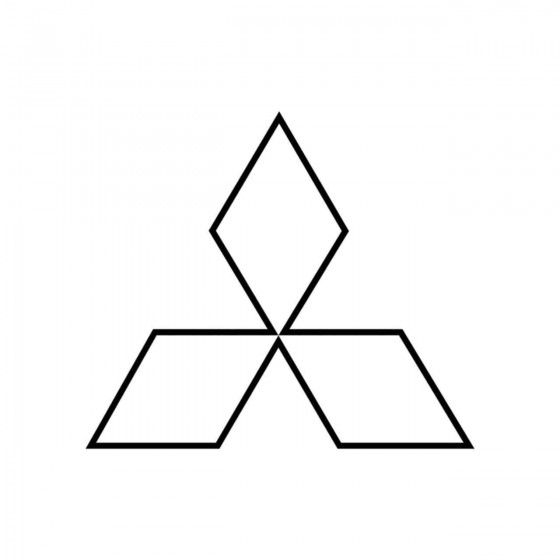 Mitsubishi Logo Contour...