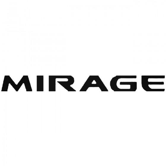 Mitsubishi Mirage Vinyl Decal