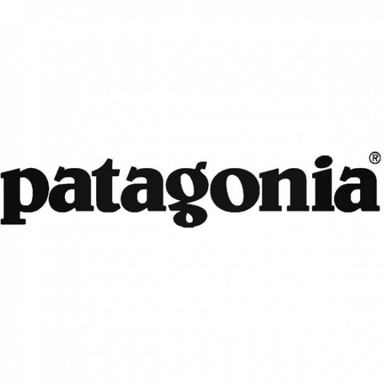 Patagonia Text Decal Sticker