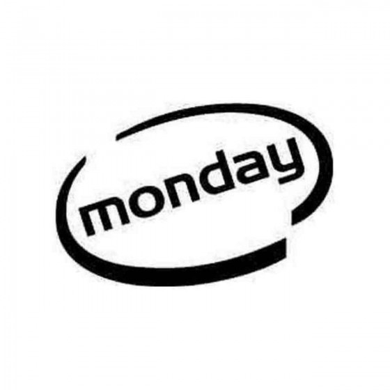 Monday Oval Decal Sticker