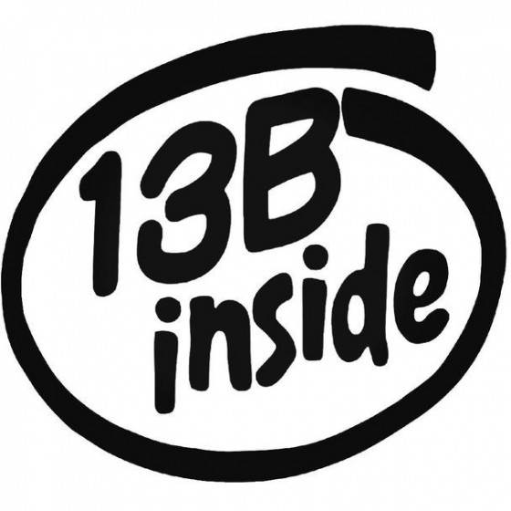 13b Inside 2 Decal Sticker