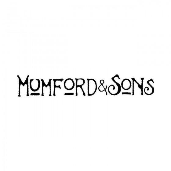 Mumford Sons Vinyl Decal...