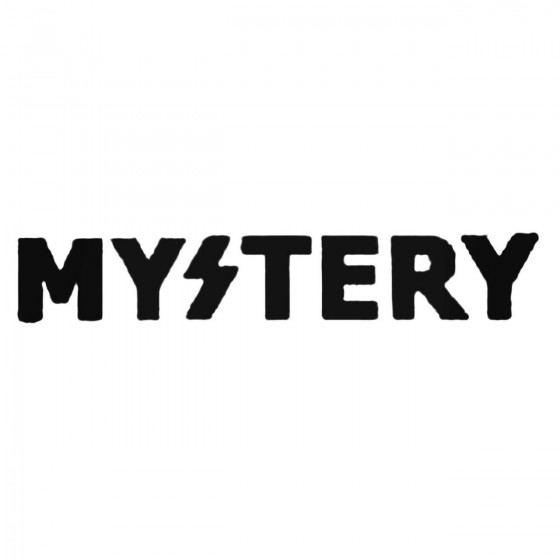 Mystery Text Decal Sticker