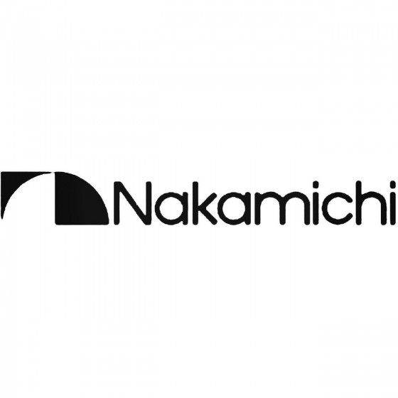 Nakamichi Logo Vinyl Decal...