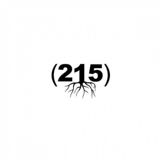 215 Zip Code Roots Sticker
