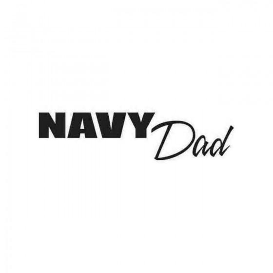 Navy Dad Decal Sticker