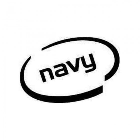 Navy Oval Decal Sticker