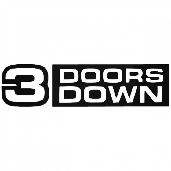 3 Doors Down Decal Sticker
