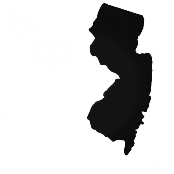 New Jersey Nj State Decal...
