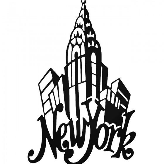 New York 263 Decal Sticker