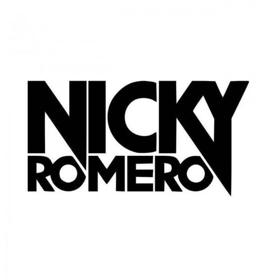 Nicky Romero Vinyl Decal...