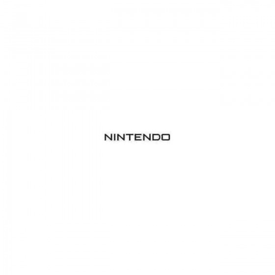Nintendo Decal Sticker
