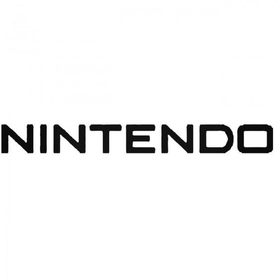 Nintendo Vinyl Decal