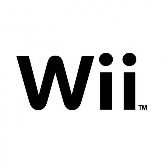 Nintendo Wii Vinyl Decal...