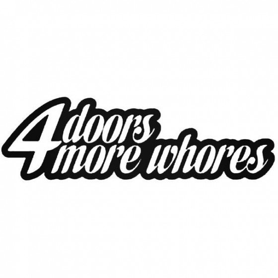4 Doors 3 Decal Sticker