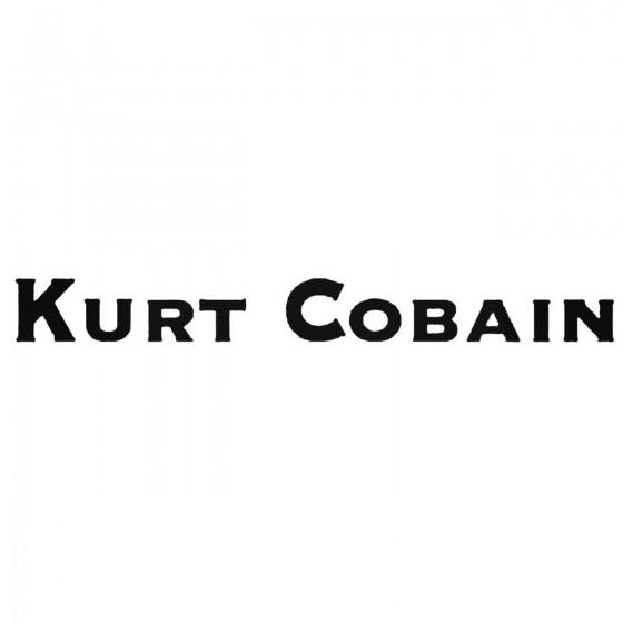 Nirvana Kurt Cobain Decal...