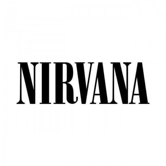 Nirvana Logo Vinyl Decal...