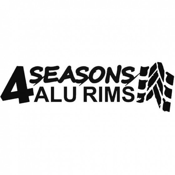 4 Seasons Alu Rims Decal...