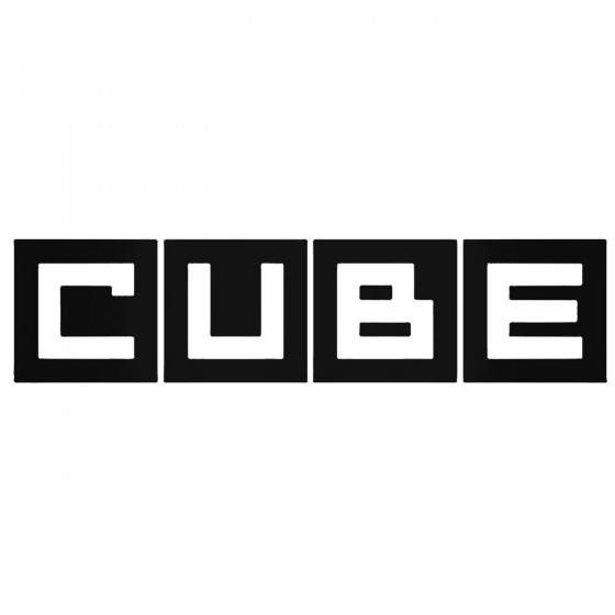 Nissan Cube Logo Decal Sticker