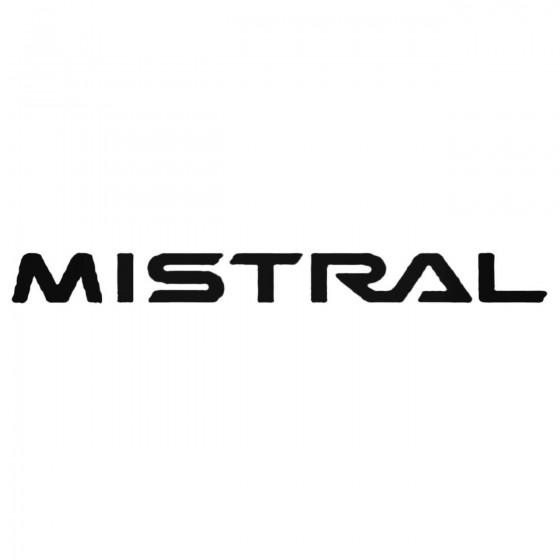 Nissan Mistral Decal Sticker