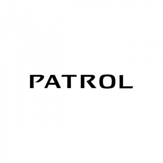 Nissan Patrol Vinyl Decal...