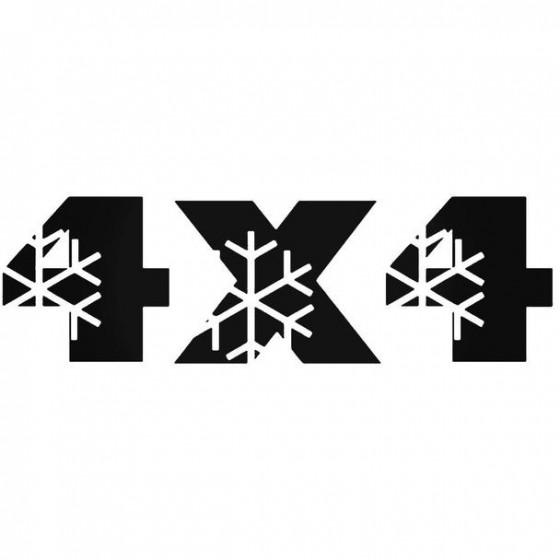 4x4 3 Decal Sticker
