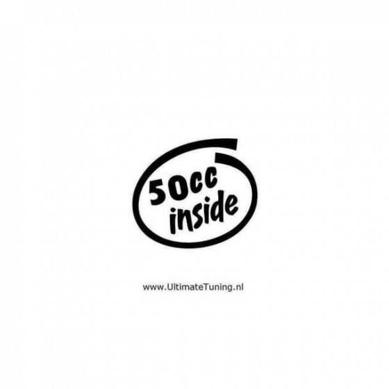 50cc Inside 2 Decal Sticker