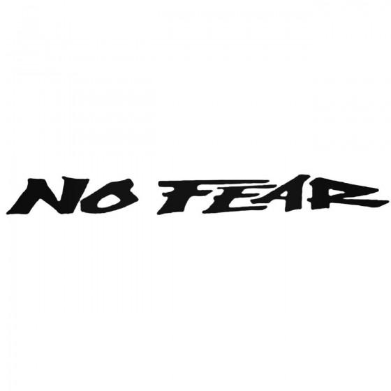 No Fear Decal Sticker