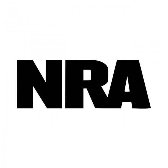 Nra Assault Rifle Gun Vinyl...