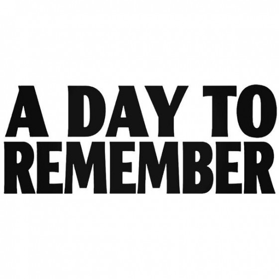 A Day To Remember Decal...