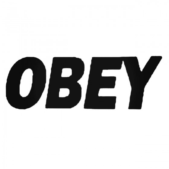 Obey Text Decal Sticker