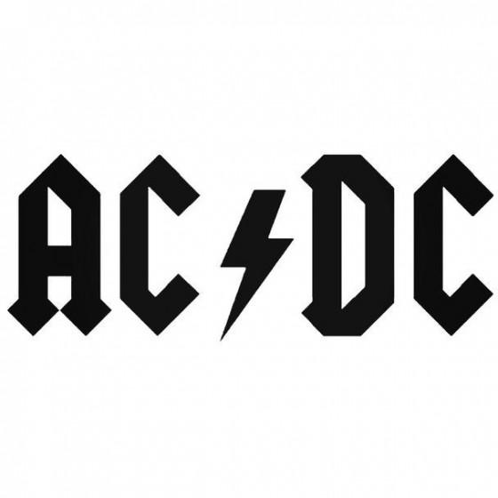 Ac Dc 1 Decal Sticker