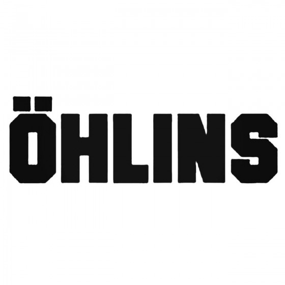 Ohlins Solid Decal Sticker