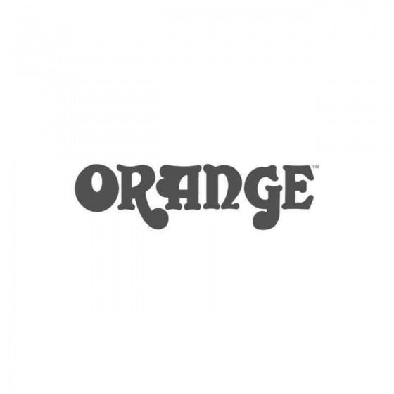 Orange Vinyl Decal Sticker